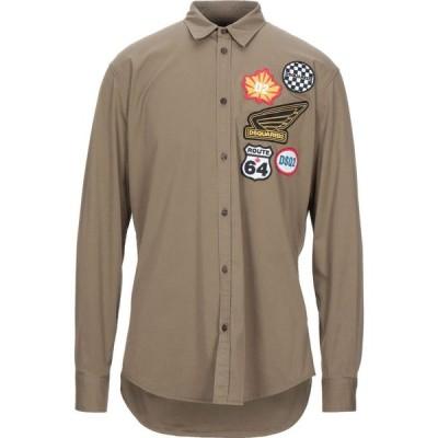 ディースクエアード DSQUARED2 メンズ シャツ トップス Solid Color Shirt Military green