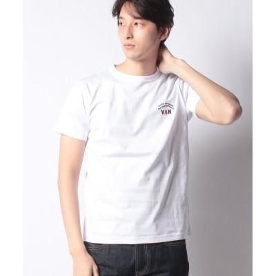 (VANJACKET/ヴァンヂャケット)Tシャツ<アーチロゴ>/メンズ ホワイト