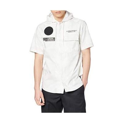 [アヴィレックス] フードシャツ S/S STRECH HOOD ZIP SHIRTS 6105092 メンズ 801 WHITE CAMO 日本 L (日本サイズL相当)