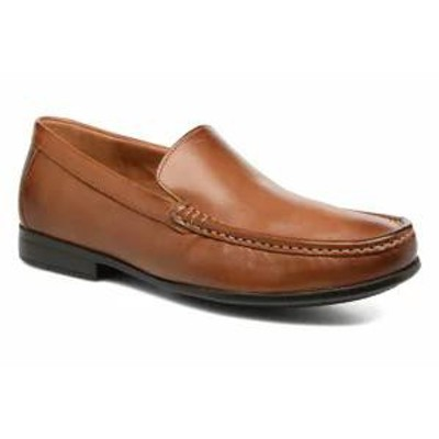 Clarks メンズシューズ Clarks Loafers Claude Plain Brown Tan Leather
