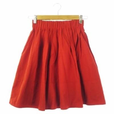 【中古】ジルスチュアート JILL STUART スカート ギャザー ミニ 0 赤 レッド /CK13 ☆ レディース