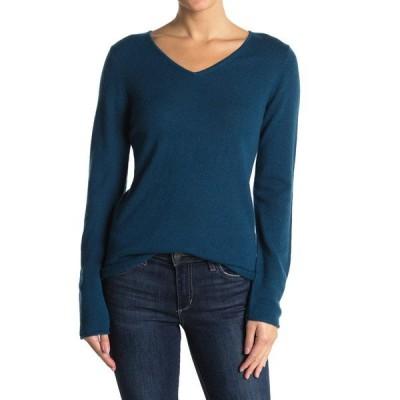 フォースアンドユニオン レディース ニット&セーター アウター Cashmere V-Neck Long Sleeve Sweater BLUE LEGION