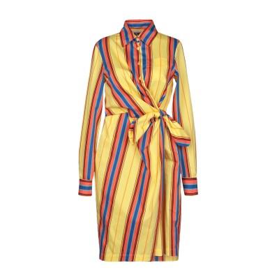 モスキーノ MOSCHINO ミニワンピース&ドレス イエロー 38 コットン 90% / ナイロン 10% ミニワンピース&ドレス