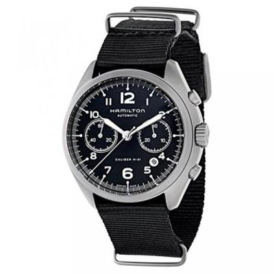 ハミルトン 腕時計 メンズウォッチ Hamilton Men's H76456435 Khaki Aviation Stainless Steel Automatic Watch with Black Canvas Band