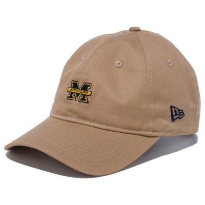 ニューエラ キャップ 帽子 NEW ERA 9THIRTY ミシガン大学 カーキ オフィシャルロゴカラー