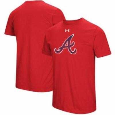 Under Armour アンダー アーマー スポーツ用品  Under Armour Atlanta Braves Red Passion Alternate Logo Performance Tr