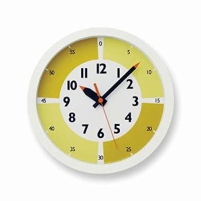 レムノス 掛け時計 ふんぷんクロック ウィズ カラー ! アナログ 黄 YD15-01 YE キッズ 知育 Lemnos
