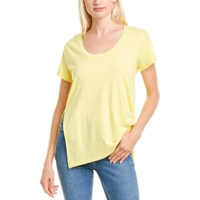 ハビチュアル シャツ トップス レディース Habitual Tuck T-Shirt lemon