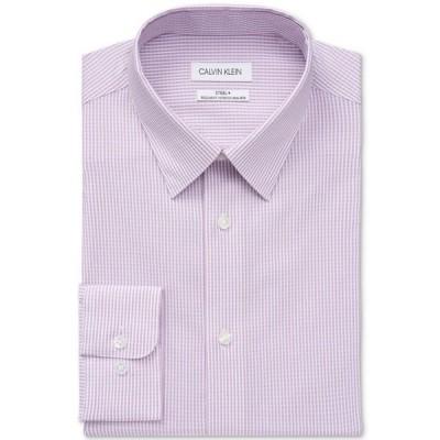 カルバンクライン メンズ シャツ トップス Calvin Klein Men's Steel Regular-Fit Non-Iron Stretch Performance Dress Shirt