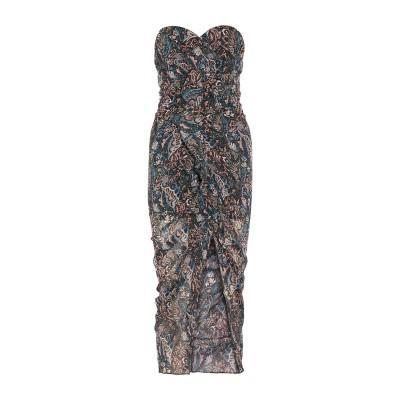 VERONICA BEARD 7分丈ワンピース・ドレス ダークグリーン 6 シルク 100% 7分丈ワンピース・ドレス