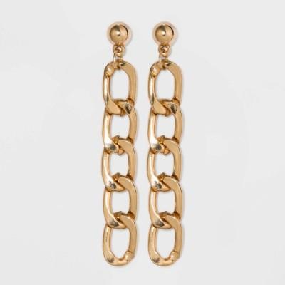 ワイルドファブル Wild Fable レディース イヤリング・ピアス ドロップピアス ジュエリー・アクセサリー Curb Chain Drop Earrings - Gold