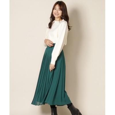 Swingle / 巻き風プリーツスカート WOMEN スカート > スカート