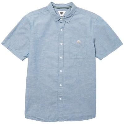 ヴィスラ メンズ シャツ トップス Vissla Sets Short-Sleeve Shirt Harbor Blue