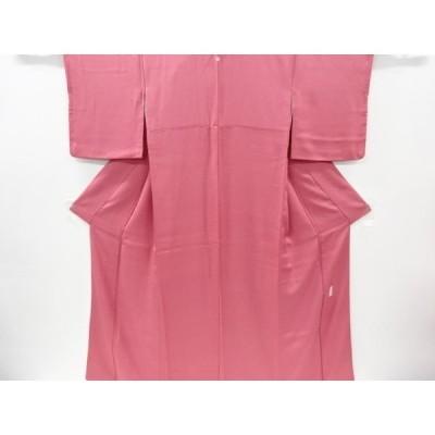 リサイクル 織柄一つ紋色無地着物