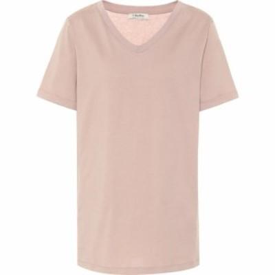 マックスマーラ S Max Mara レディース Tシャツ トップス Dresda cotton-jersey T-shirt Rosa