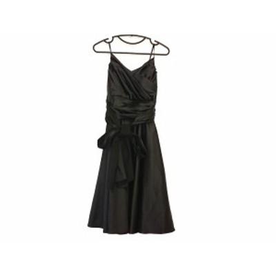 エメ aimer ドレス レディース - 黒 ノースリーブ/ひざ丈【還元祭対象】【中古】20201001
