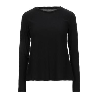 マジェスティック MAJESTIC FILATURES T シャツ ブラック 1 コットン 70% / カシミヤ 30% T シャツ