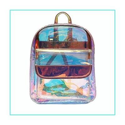 【新品】Clear Laser Backpack Hologram Transparent Holographic Beach Bags for Women Teen Girls School Bag(並行輸入品)