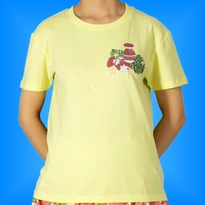 フラダンス Tシャツ [XL] イプ・ウリウリ イエロー 514xly