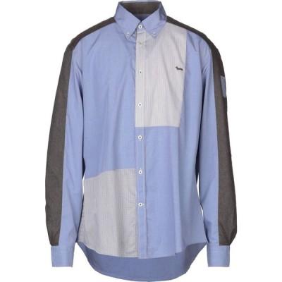 ハーモント アンド ブレイン HARMONT&BLAINE メンズ シャツ トップス checked shirt Blue