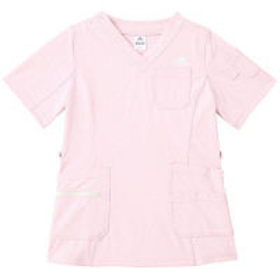 adidasKAZEN adidas(アディダス)レディススクラブ 医療白衣 半袖 ピンク OT SMS009-13(直送品)