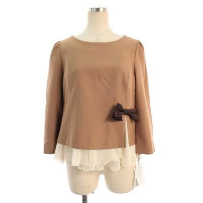 エムズグレイシー Tシャツ カットソー リボン フリル リボン 半端袖 40