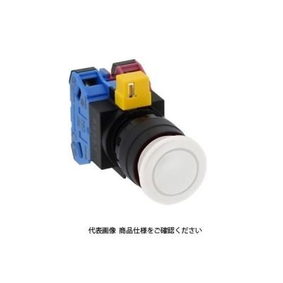 IDEC(アイデック) φ22 HWシリーズ 押ボタンスイッチ 中形 白 HW1B-M310W 1セット(4個)(直送品)