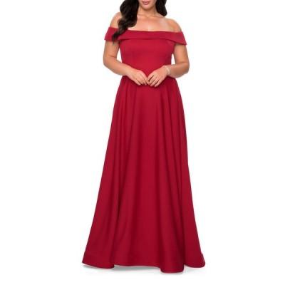 ラフェム レディース ワンピース トップス Plus Size Off-the-Shoulder Jersey A-Line Gown