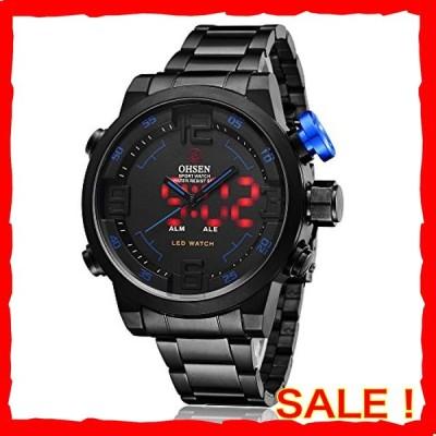スポーツ 腕時計 デジタル LED 大顔 防水 軍事 ストップウォッチ SIBOSUN メンズ 日本のクォーツ アラーム 日付の