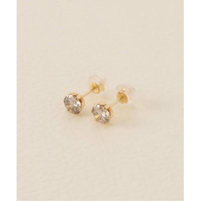 レディース アンサンブル 【Limited】 K18・0.7ct ダイヤモンド ピアス ゴールド フリー