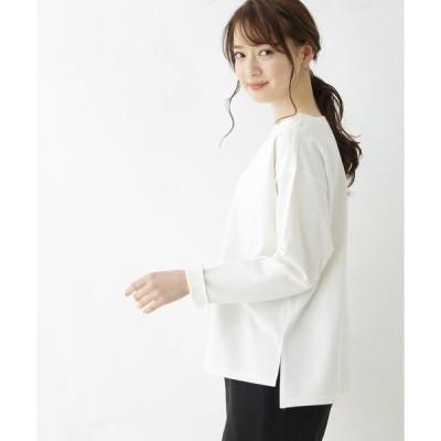 tシャツ Tシャツ 【42(LL)WEB限定サイズ】シルケット度詰コットン天竺ボクシートップス
