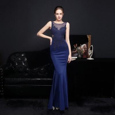 パーティードレス 安い 可愛い イブニングドレス パーティー ロングドレス カラードレス ノースリーブ ウエディングドレス 花嫁