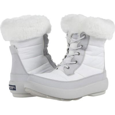 スペリートップサイダー Sperry レディース ブーツ シューズ・靴 Bearing PlushWave Boots Nylon Off White/Grey