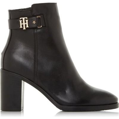 トミー ヒルフィガー Tommy Hilfiger レディース ブーツ ショートブーツ シューズ・靴 th bukle ankle boots Black