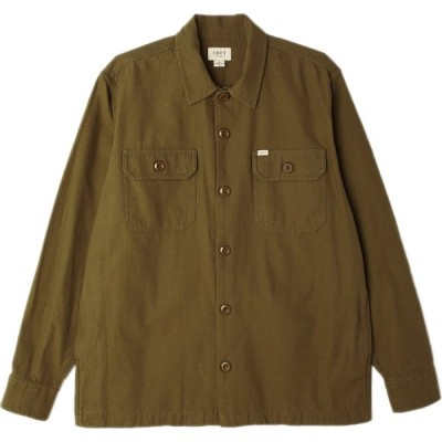 オベイ Obey Clothing メンズ シャツ トップス Ideals Organic Field Woven Shirt Army