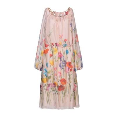 ブルマリン BLUMARINE 7分丈ワンピース・ドレス ローズピンク 44 シルク 100% 7分丈ワンピース・ドレス