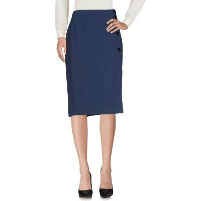 ERMANNO DI ERMANNO SCERVINO 7分丈スカート ダークブルー 40 ポリエステル 100% 7分丈スカート