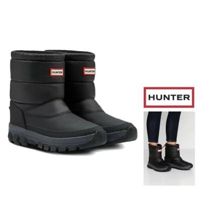 HUNTER(ハンター) メンズ ORIGINAL INSULATED SHORT SONW BOOT ショート丈 スノーブーツ color : BLACK(ブラック)