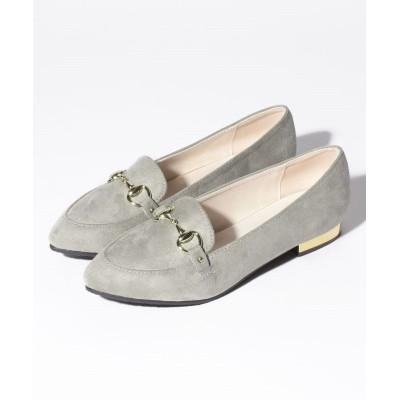 【シュークロ】 ゴールドビット&ゴールドヒール  オペラパンプス レディース ライト グレー L Shoes in Closet
