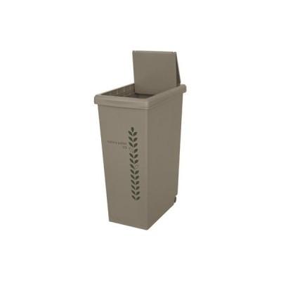 平和工業 4907556206183 ゴミ箱 キッチン 45L サンドベージュ (ふた付き キャスター付き) 幅268×奥行416×高さ602mm
