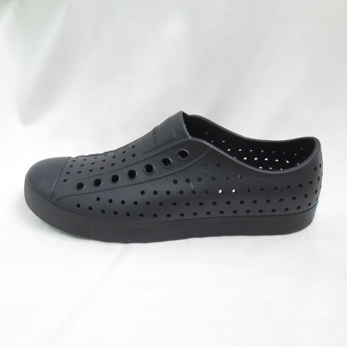 Native JEFFERSON  洞洞鞋 111001001001 男女款 全黑 大尺碼【iSport愛運動】