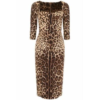 DOLCE&GABBANA/ドルチェ&ガッバーナ ドレス LEO NEW Dolce & gabbana leopard-printed dress レディース 春夏2019 F6C1ET FSRKI ik