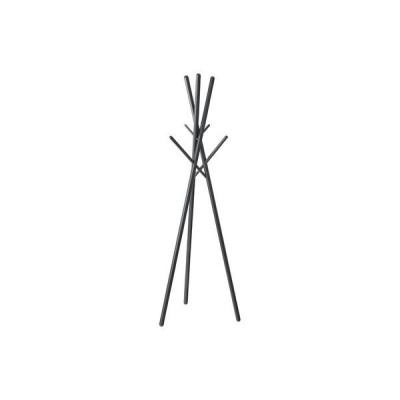 北欧風 ハンガーラック/コートハンガー 〔ブラック〕 幅57.5cm 木製 組立品 〔寝室 ベッドルーム リビング 玄関〕