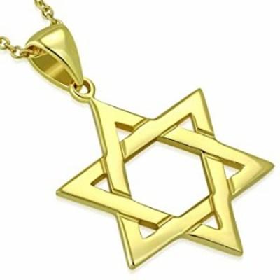 925スターリングシルバークラシックシンプルユニセックスJewish Star of Davidペンダントネックレス