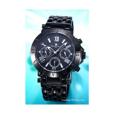 サルバトーレマーラ メンズ腕時計 Salvatore Marra オールブラック SM14118-IPBK