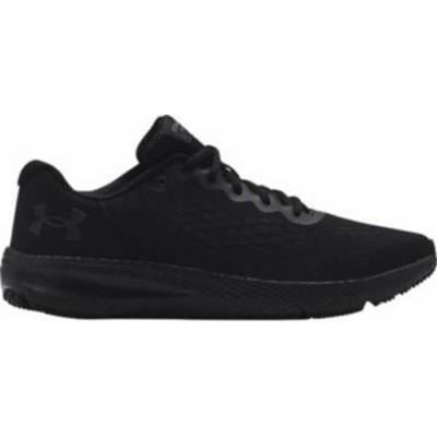 アンダーアーマー メンズ スニーカー シューズ Under Armour Men's Charged Pursuit 2 SE Running Shoes Black/Black