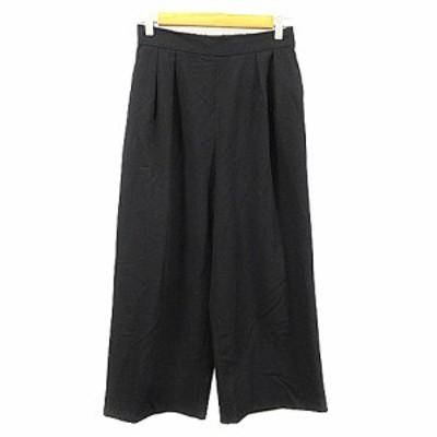 【中古】ビス ViS パンツ ワイド スカンツ タック M 黒 ブラック /AAM10 レディース