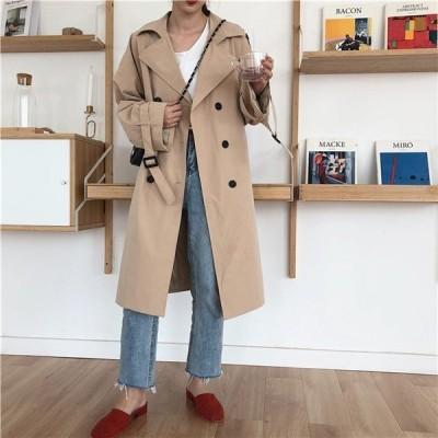 レディースアウターコートスプリングコートオフィス体型カバートレンチコートファッションオフィスカジュアル通勤大きいサイズ人気薄手