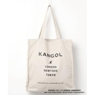 Port / 【 KANGOL / カンゴール 】 スクエア キャンバス ロゴ プリント トート WOMEN バッグ > トートバッグ