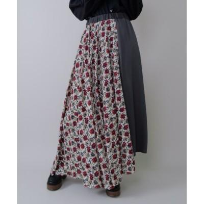 ZOZOMARKET / アシメ花柄ロングスカート WOMEN スカート > スカート